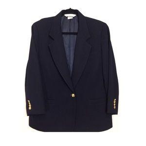 Vintage Austin Reed Navy Blue Single Button Blazer